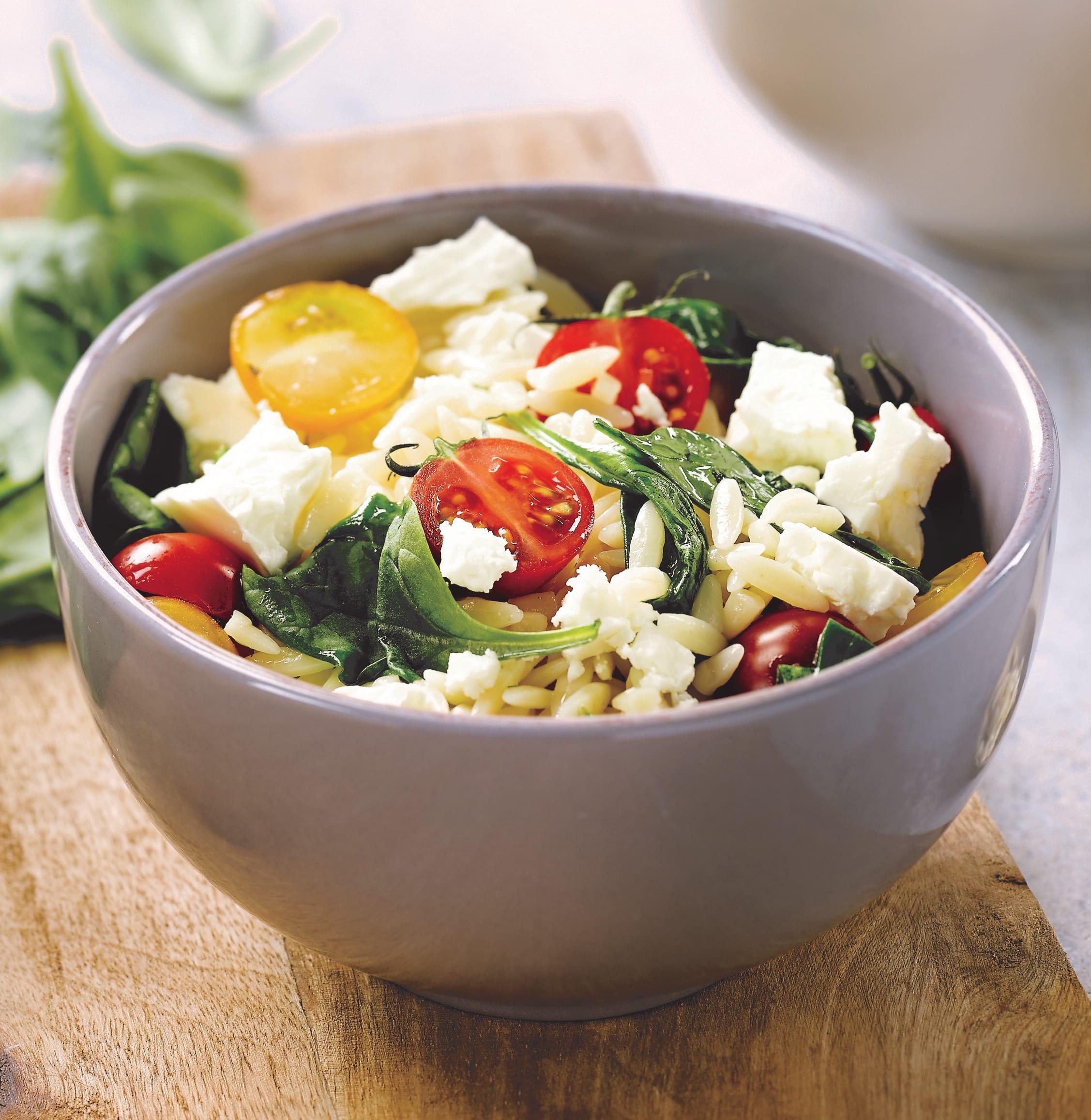 Foto van Orzo met spinazie en tomaten door WW