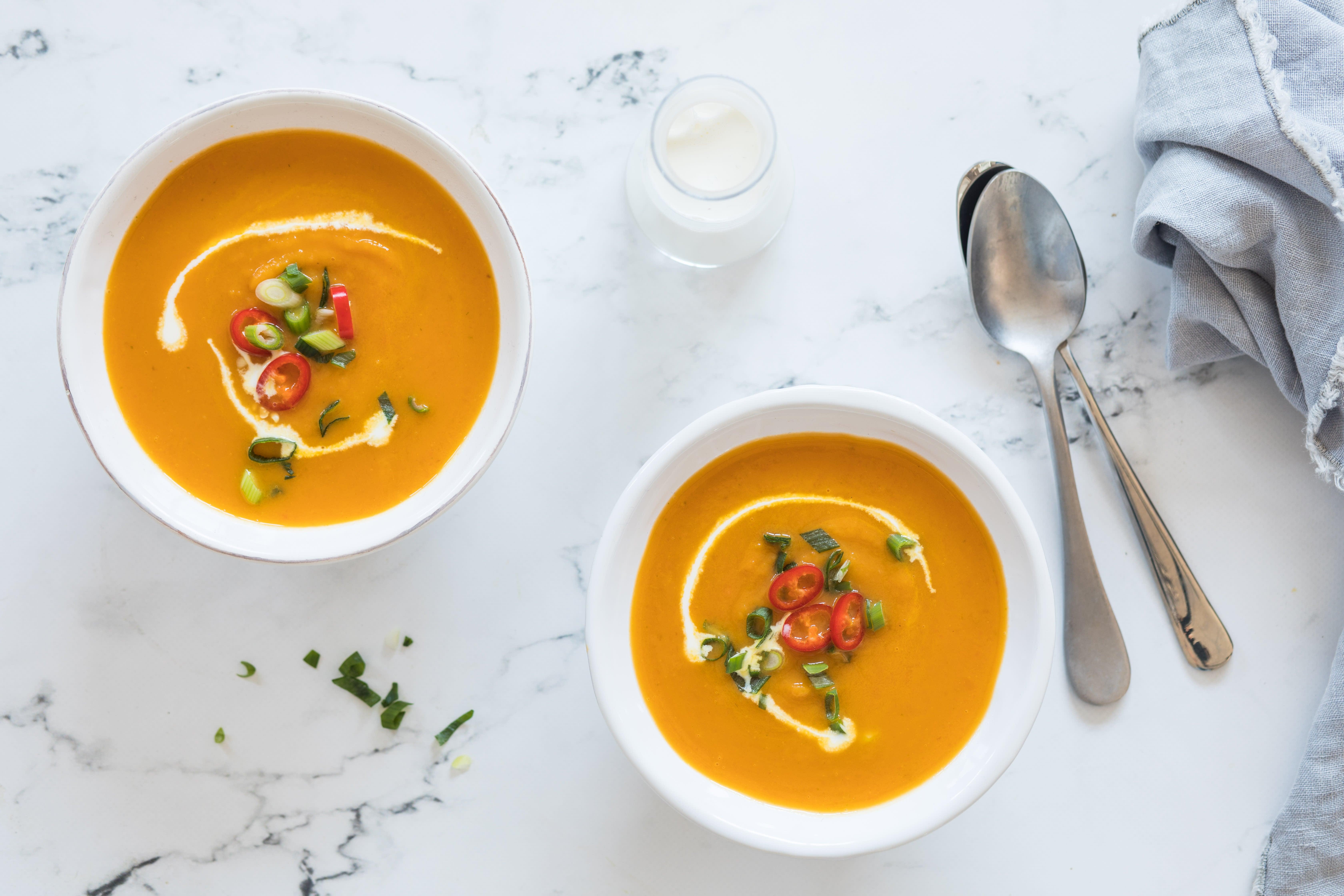 Foto van Miljuschka's soep van zoete aardappel en wortel door WW