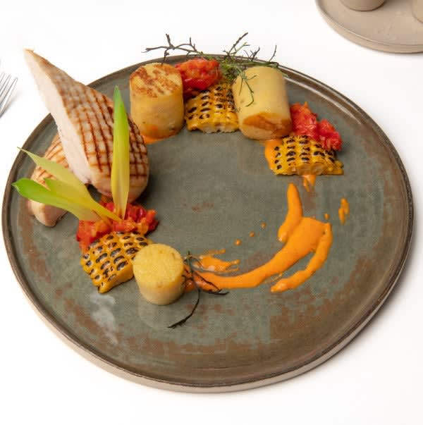 Foto van Anne-Sophie's Kip met polenta, maïs en paprika door WW