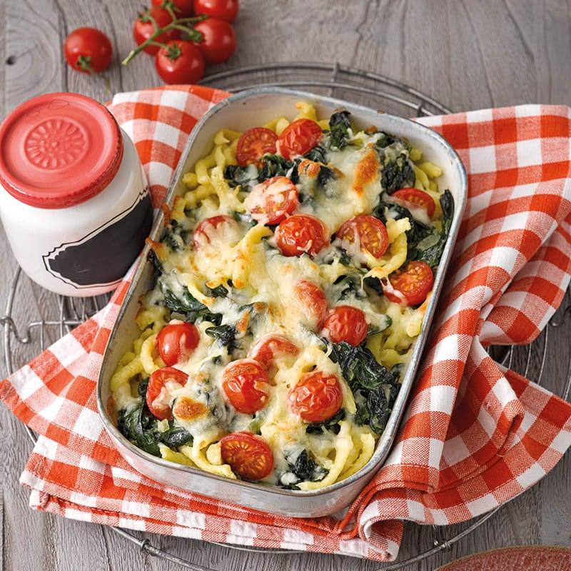 Foto van Bucatini met spinazie uit de oven door WW