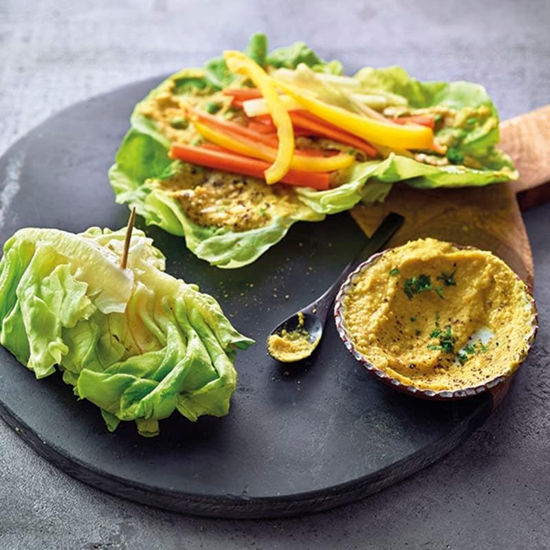 Foto van Slawraps met groenten door WW