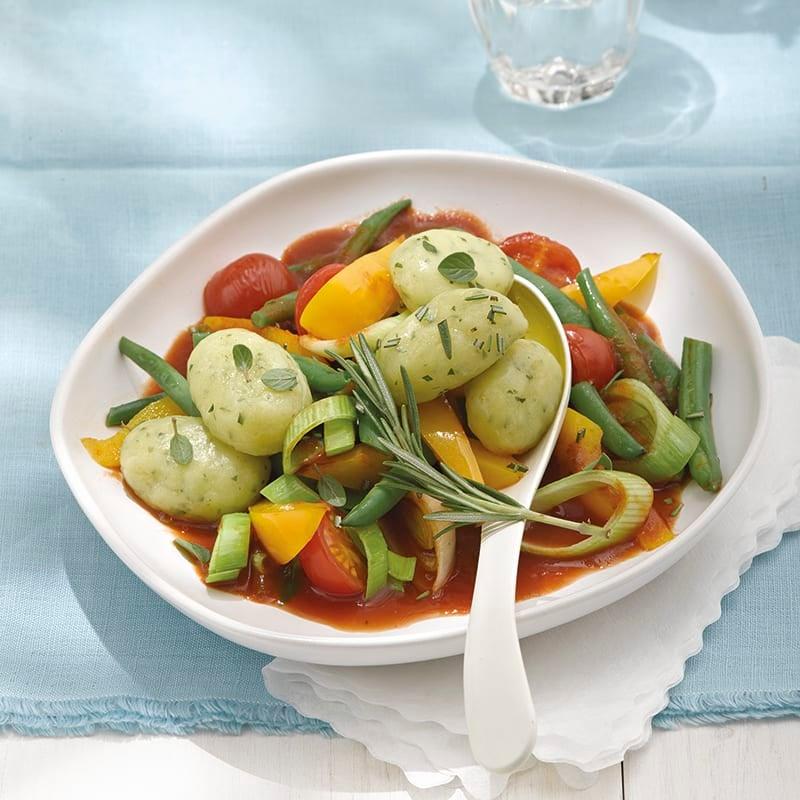 Foto van Kruidengnocchi met groenten door WW