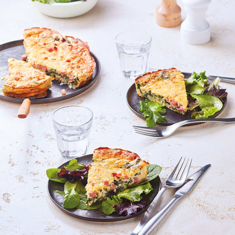 Foto van Quiche zonder deeg met ham en spinazie door WW