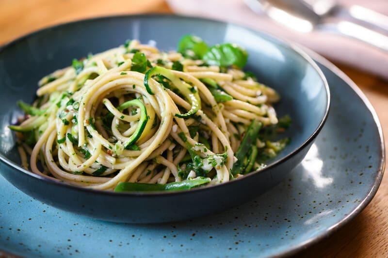 Foto van Romige pasta met witte bonenpesto door WW