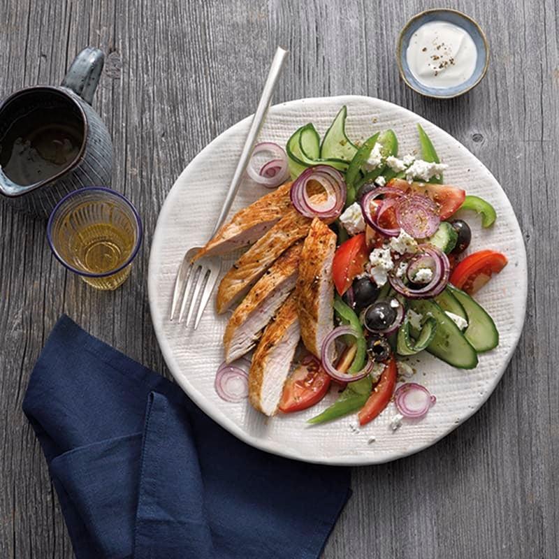 Foto van Griekse salade met kalkoenfilet door WW