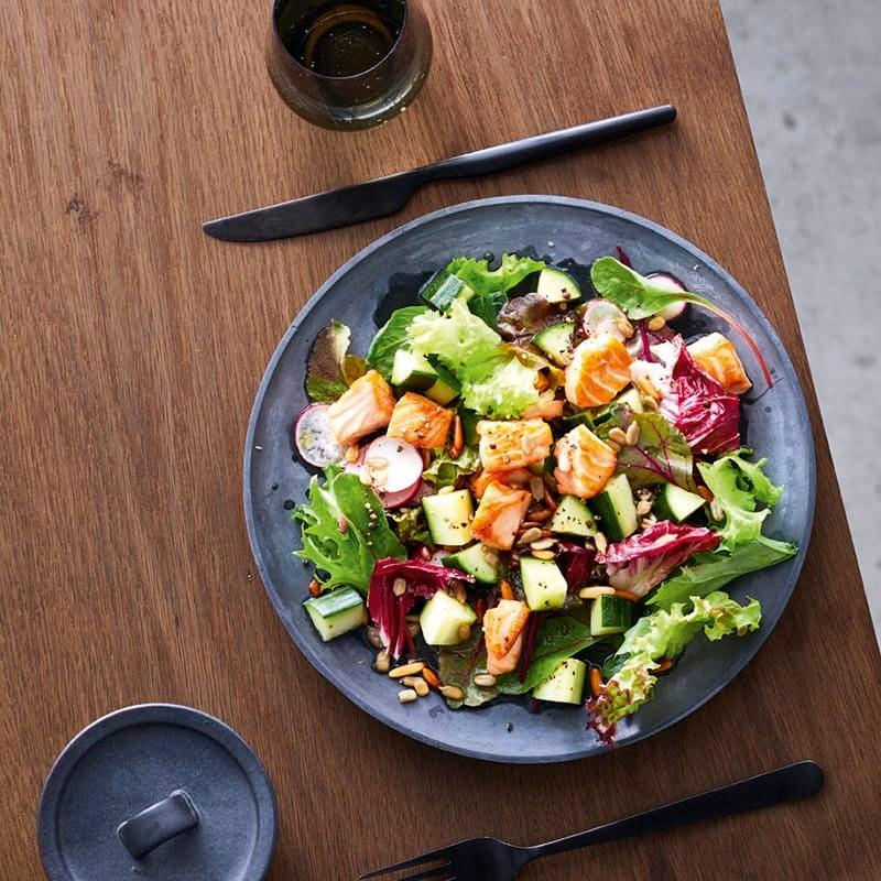 Foto van Gemengde salade met zalm door WW
