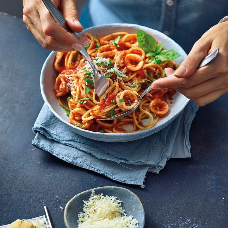 Foto van Spaghetti calamari door WW