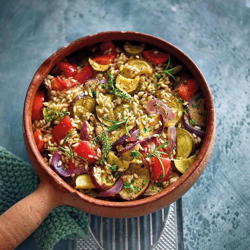 Foto van Ovenrisotto met mediterrane groenten door WW