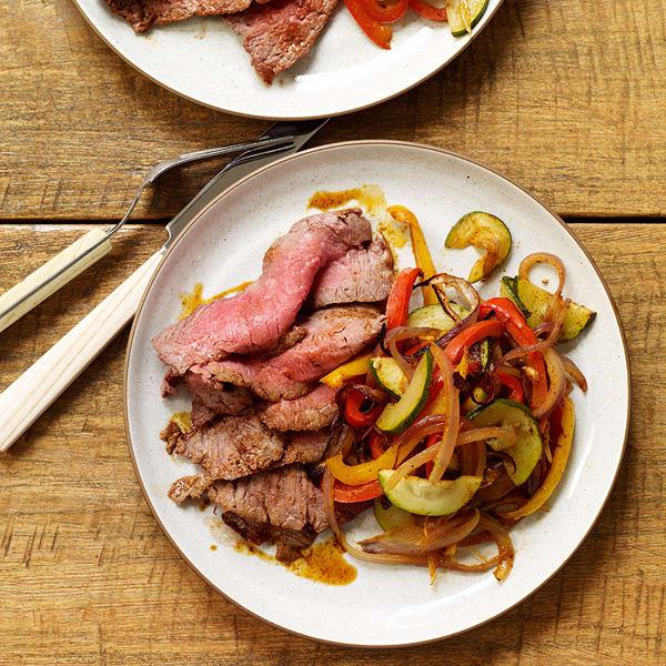 Foto van Kruidig biefstuk met fajita-groenten door WW