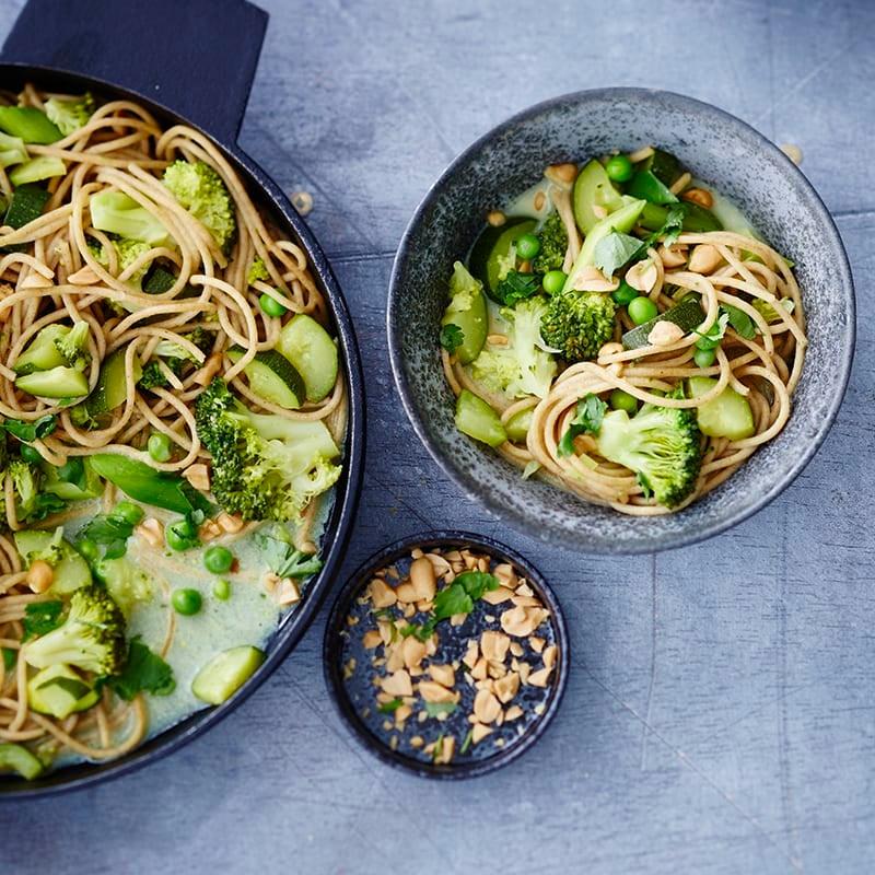 Foto van Eenpansspaghetti met groene groenten door WW