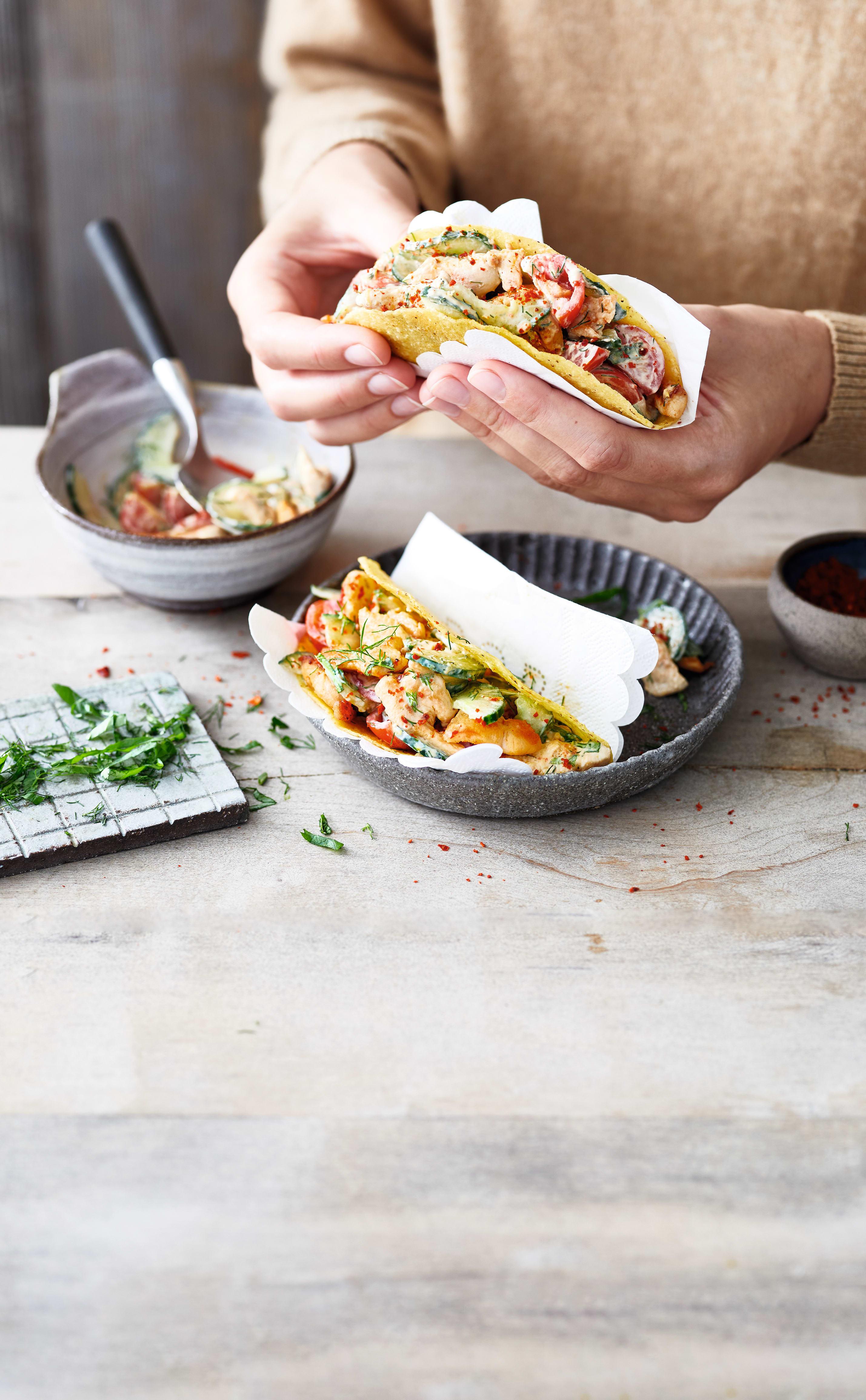 Foto van Gevulde taco's met citroenkip door WW