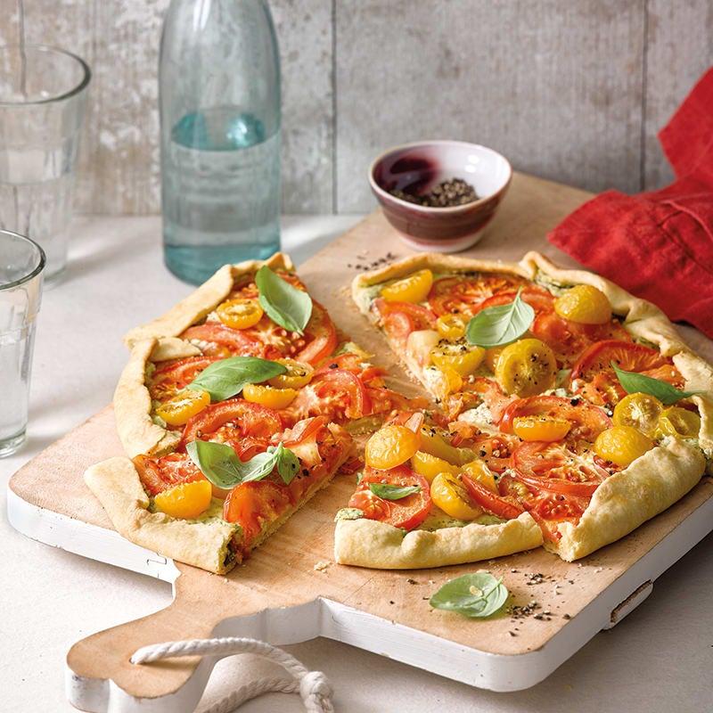 Foto van Tomatengalette met pesto door WW