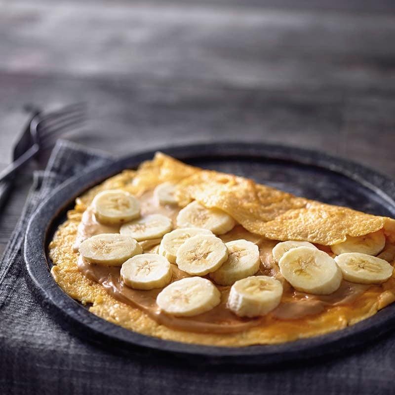 Foto van Omelet met banaan en pindakaas door WW