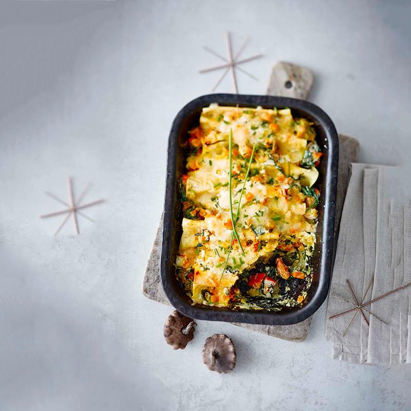 Foto van Gegratineerde cannelloni met pompoen en spinazie door WW