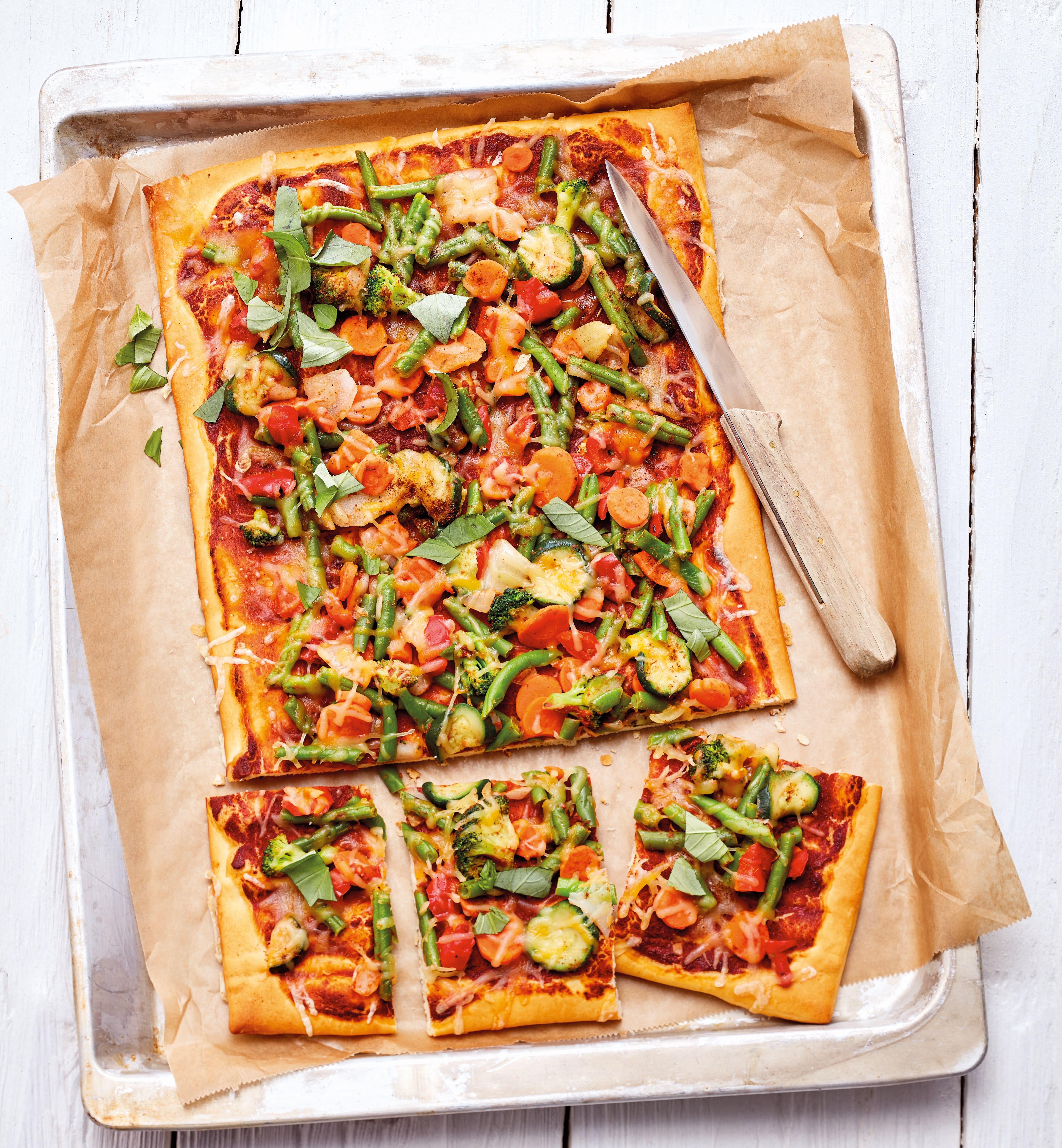 Foto van Pizza met groenten door WW