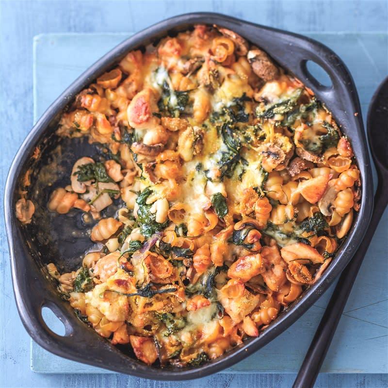 Foto van Pasta-ovenschotel met kip en spinazie door WW