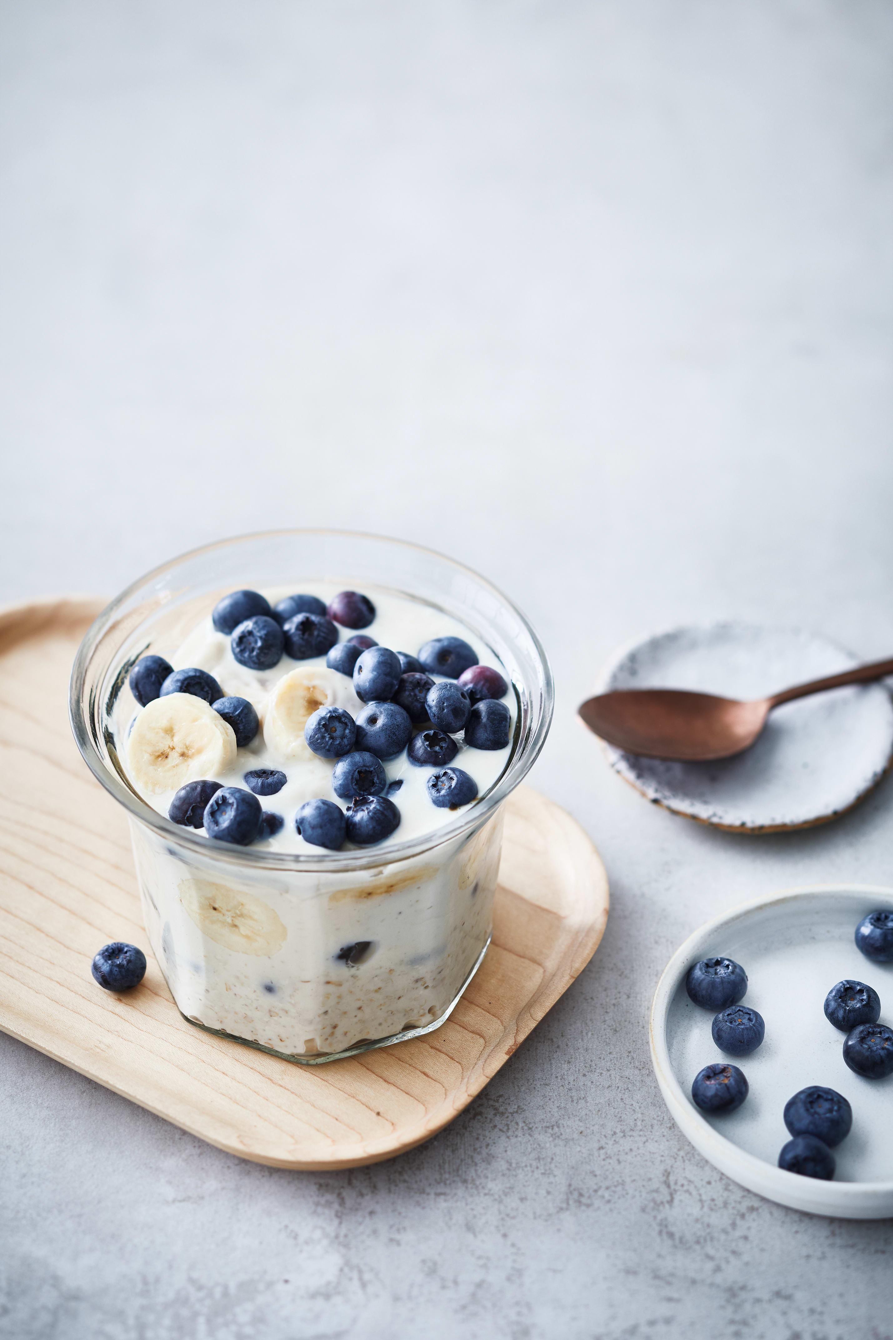 Foto van Overnight oats met blauwe bessen en kokos door WW