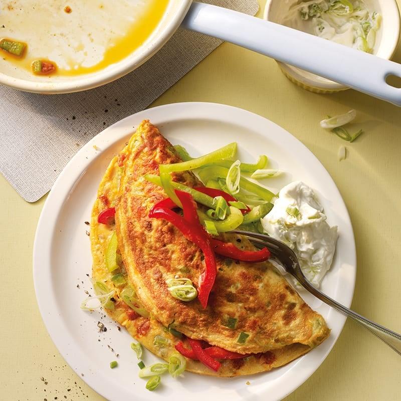 Foto van Omelet met paprika en chorizo door WW