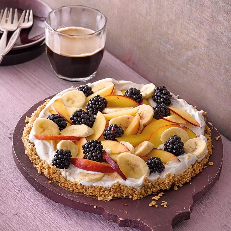 Foto van Vruchtentaart met granolabodem door WW