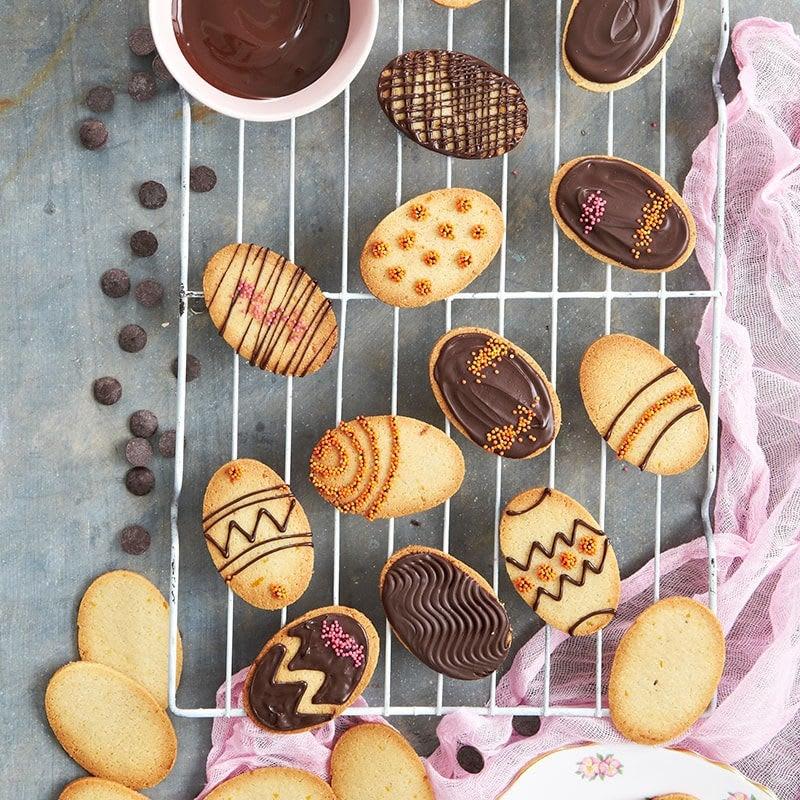 Foto van Paaskoekjes met sinaasappel en chocolade door WW