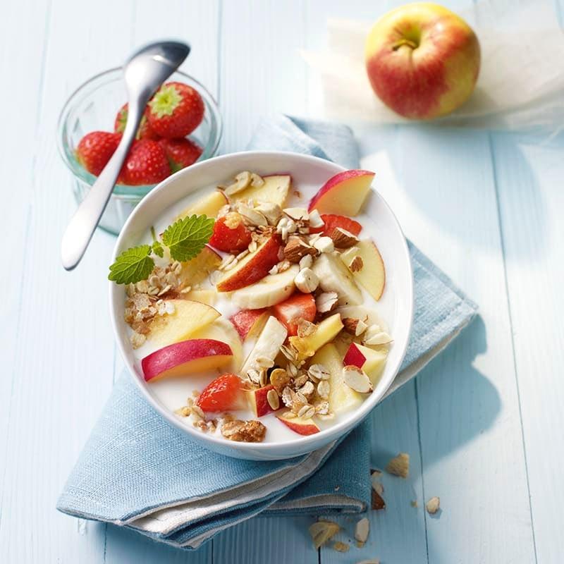 Foto van Yoghurt met havermout en fruit door WW