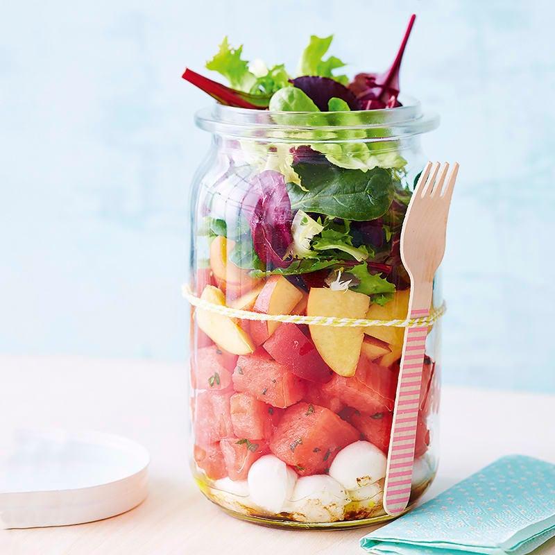 Foto van Salade met meloen en mozzarella door WW