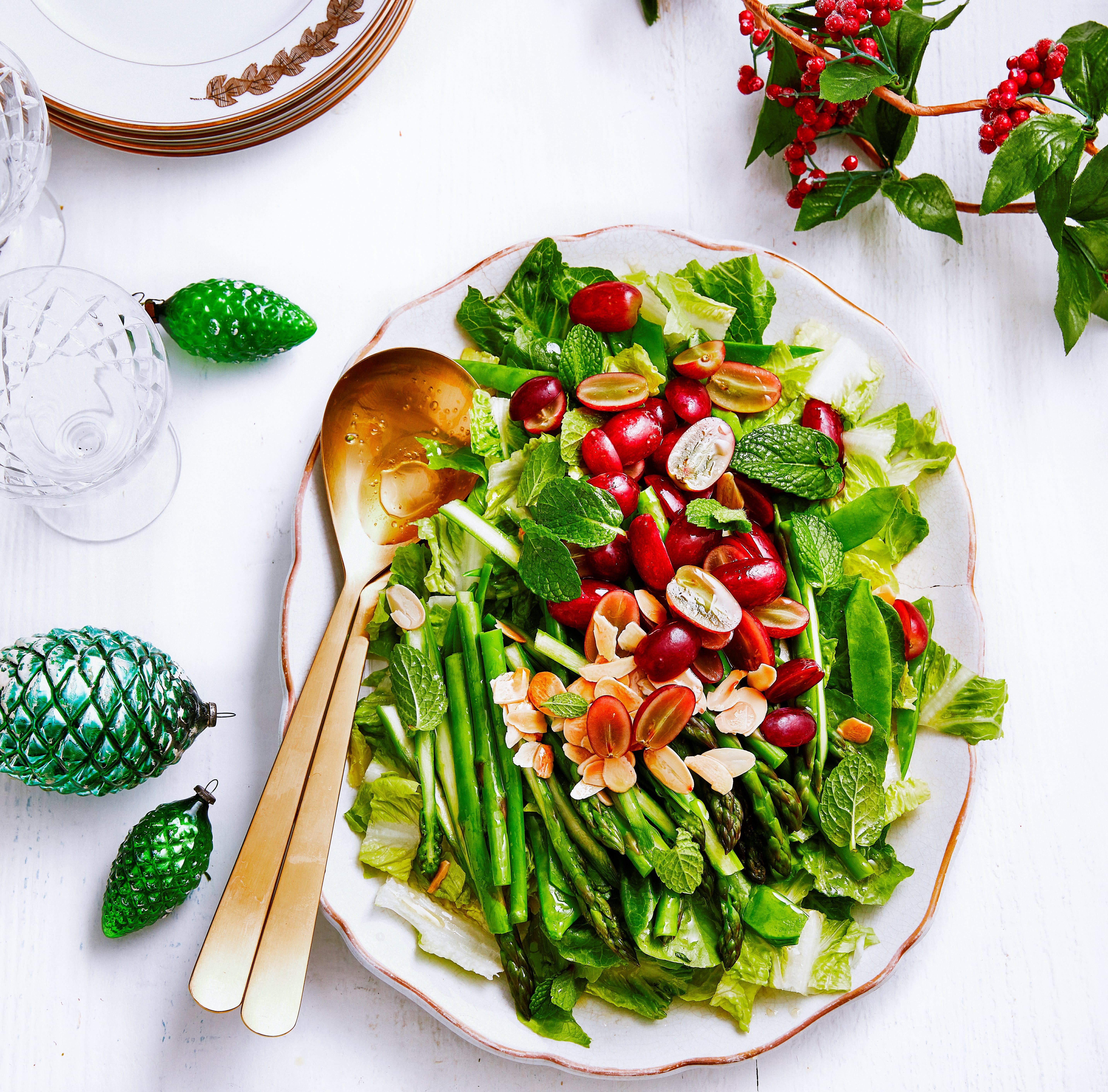 Foto van Salade van little gem & druiven door WW