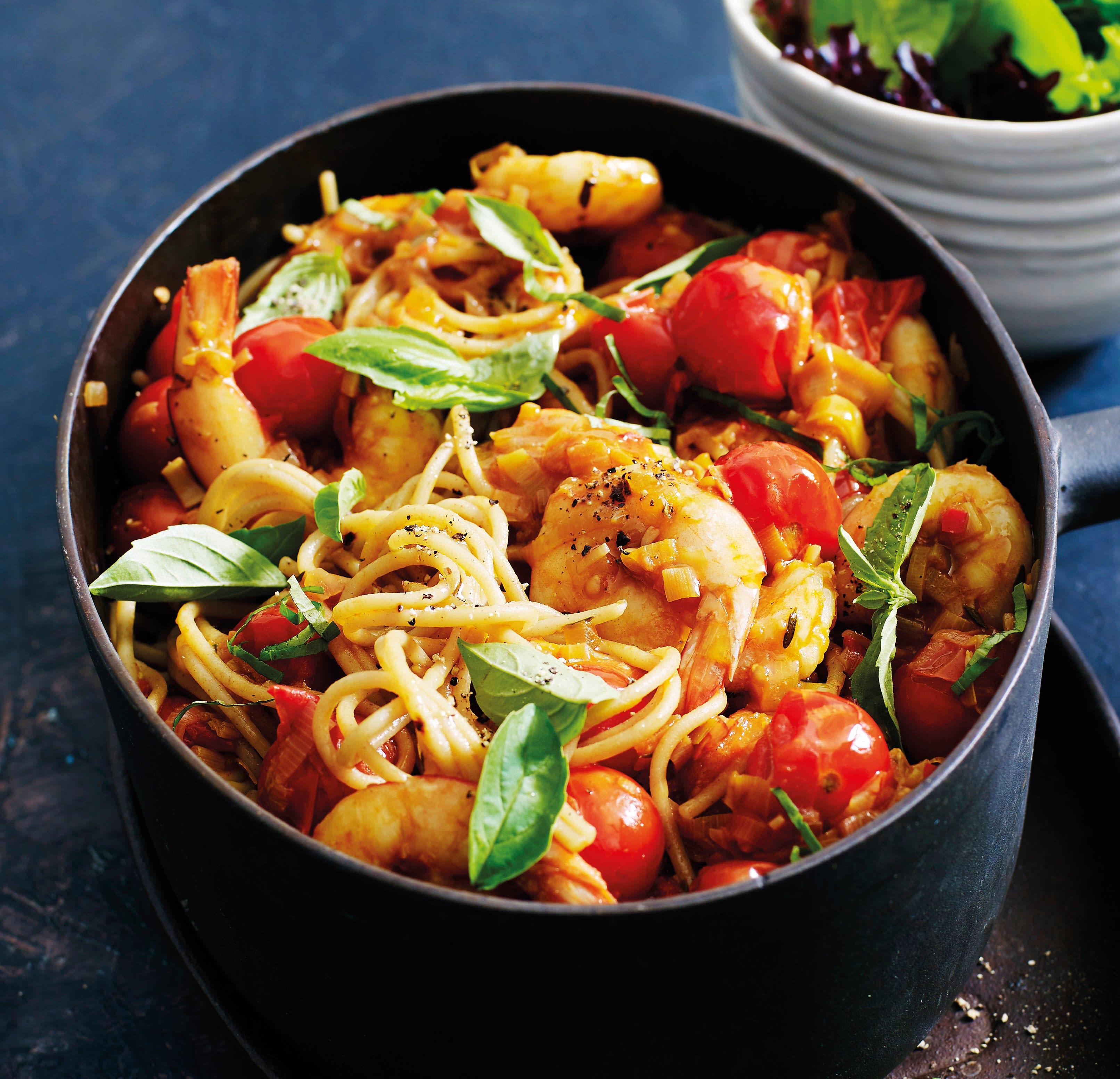 Foto van Spaghetti-garnalenpannetje door WW