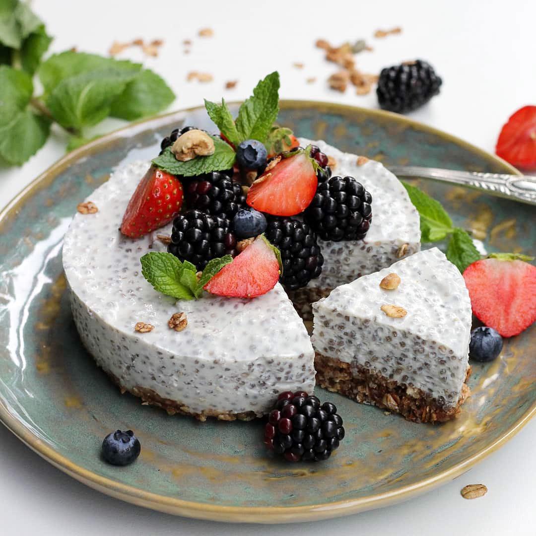 Foto van Chia-yoghurt ontbijt taartje - WW Loves - Oot Granola door WW