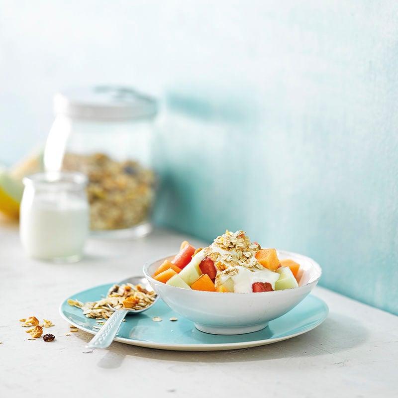 Foto van Yoghurt met muesli en meloen door WW