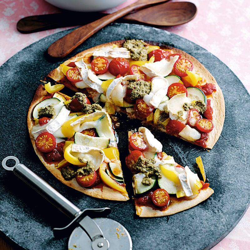 Foto van Snelle groentepizza met geitenkaas door WW