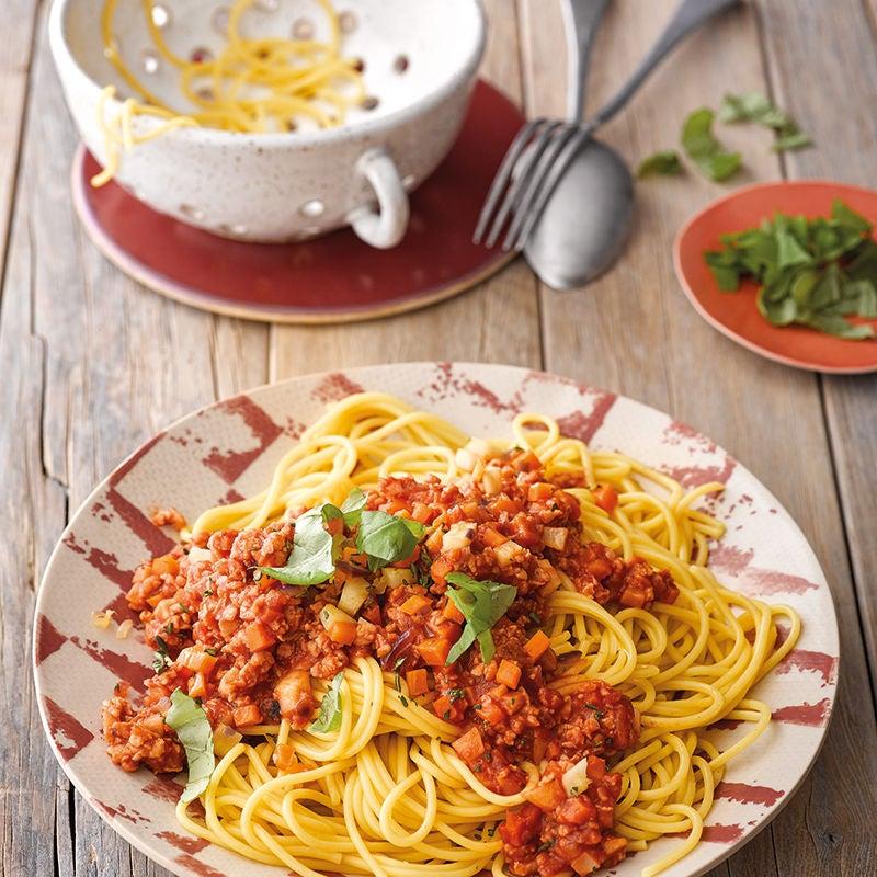 Foto van Spaghetti met vegetarische bolognese door WW