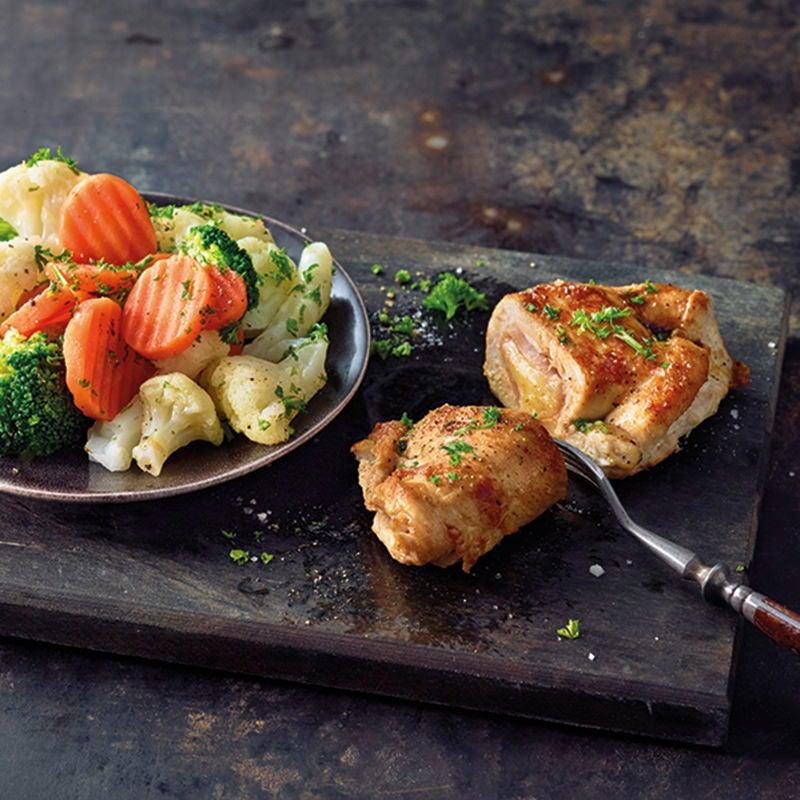 Foto van Kip cordon bleu met groenten door WW