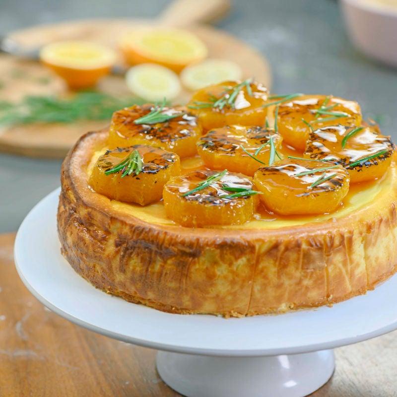 Foto van Ricotta-cheesecake met gekarameliseerde sinaasappels door WW