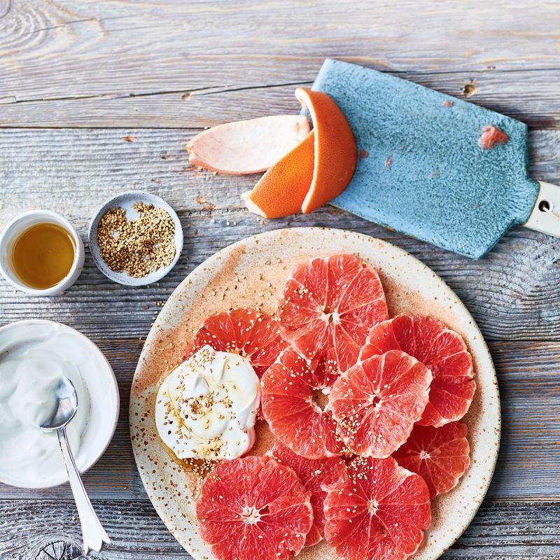 Foto van Grapefruit met sesam-honingskyr door WW