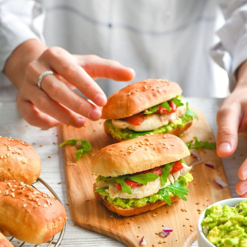 Foto van Burgerbroodjes door WW