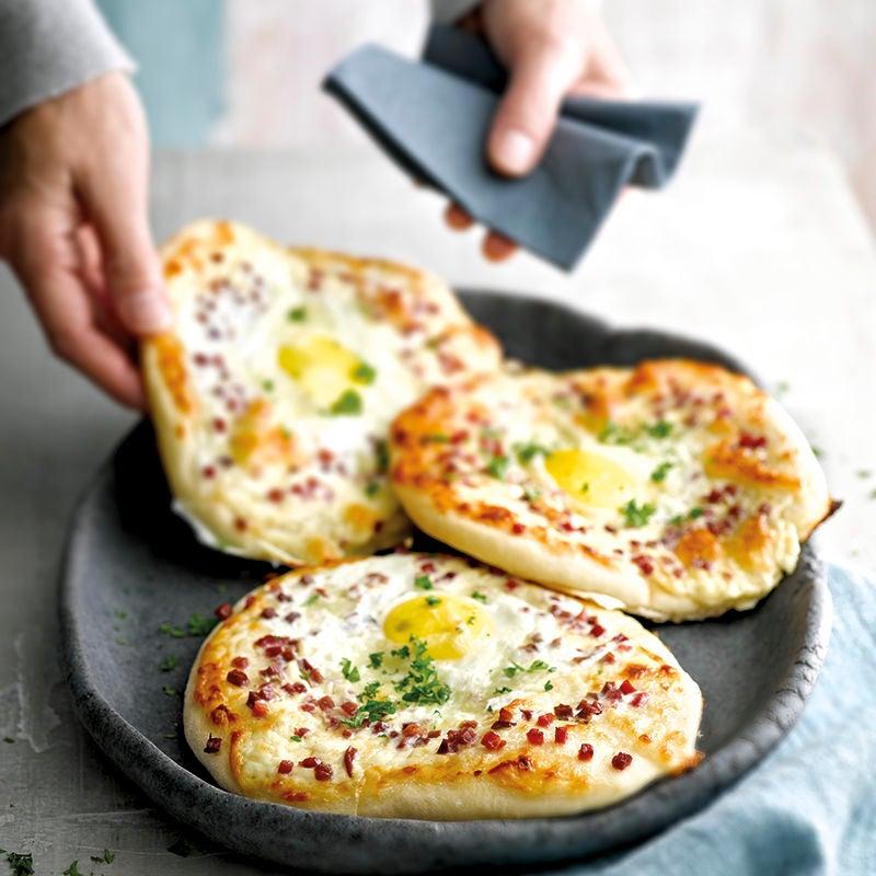 Foto van Pizza carbonara door WW