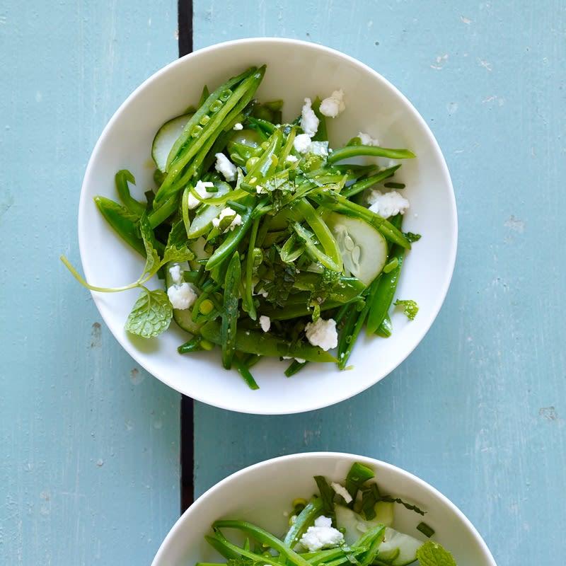 Foto van Salade van sugarsnaps en citroen door WW