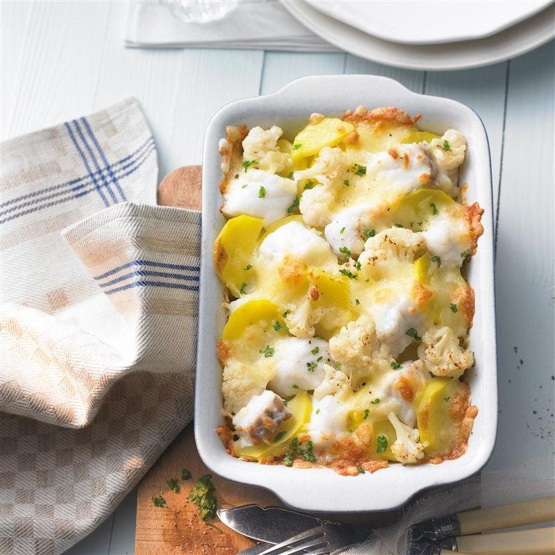 Foto van Gratin van kabeljauw en aardappel door WW