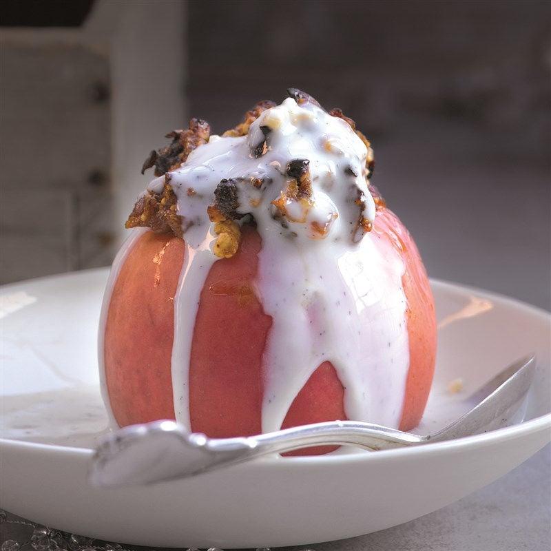 Foto van Gepofte appel met gedroogd fruit door WW
