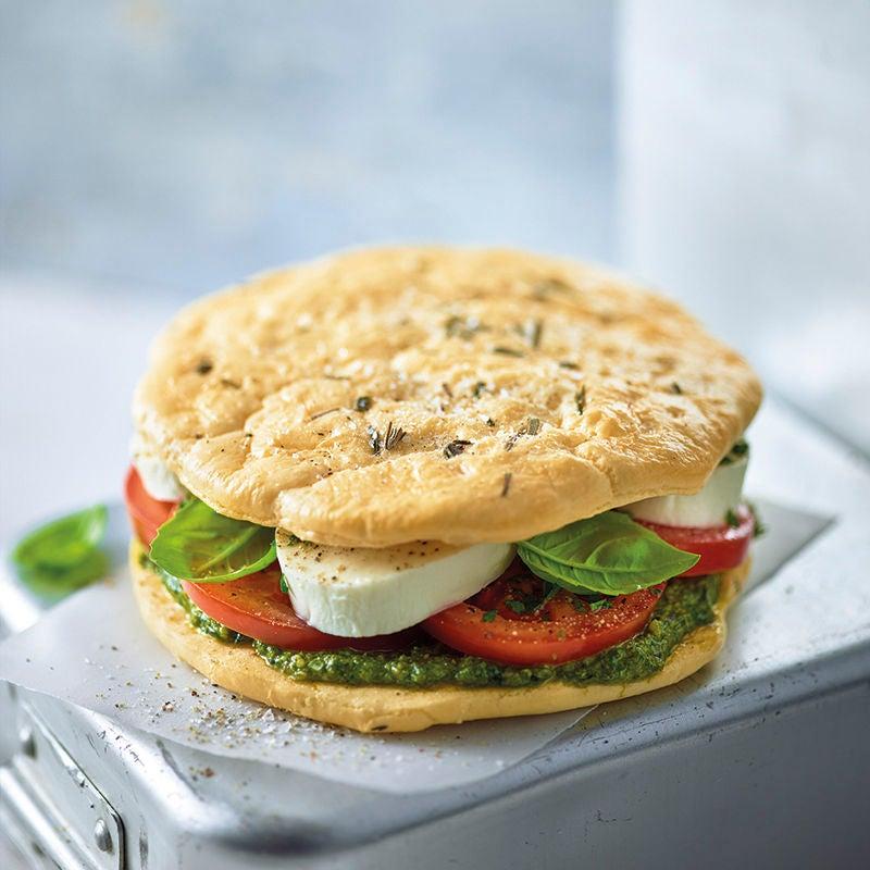 Foto van Sandwich met mozzarella door WW