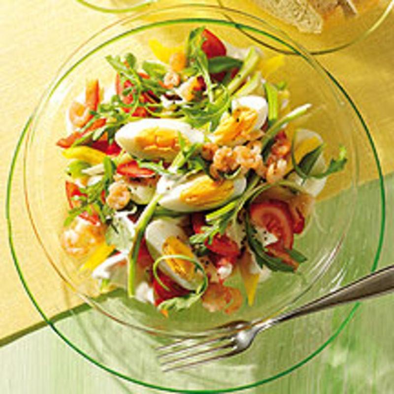 Foto van Salade met krab en ei door WW