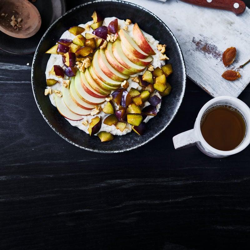 Foto van Havermoutpap met walnoot en appel door WW