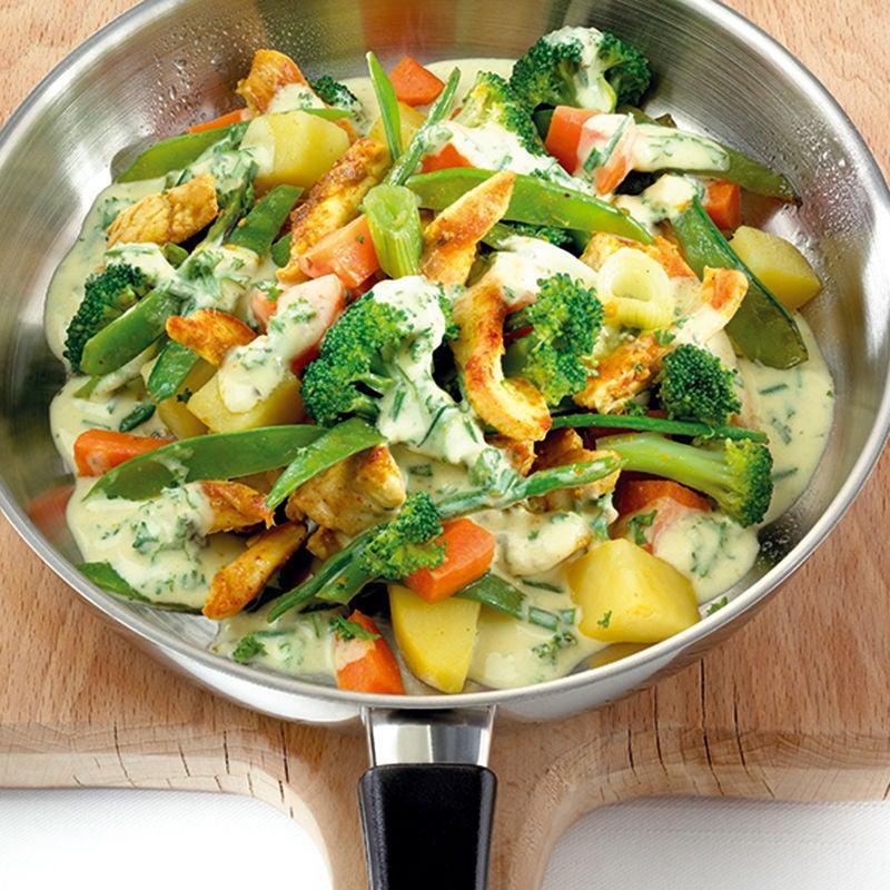 Foto van Kippannetje met groenten door WW