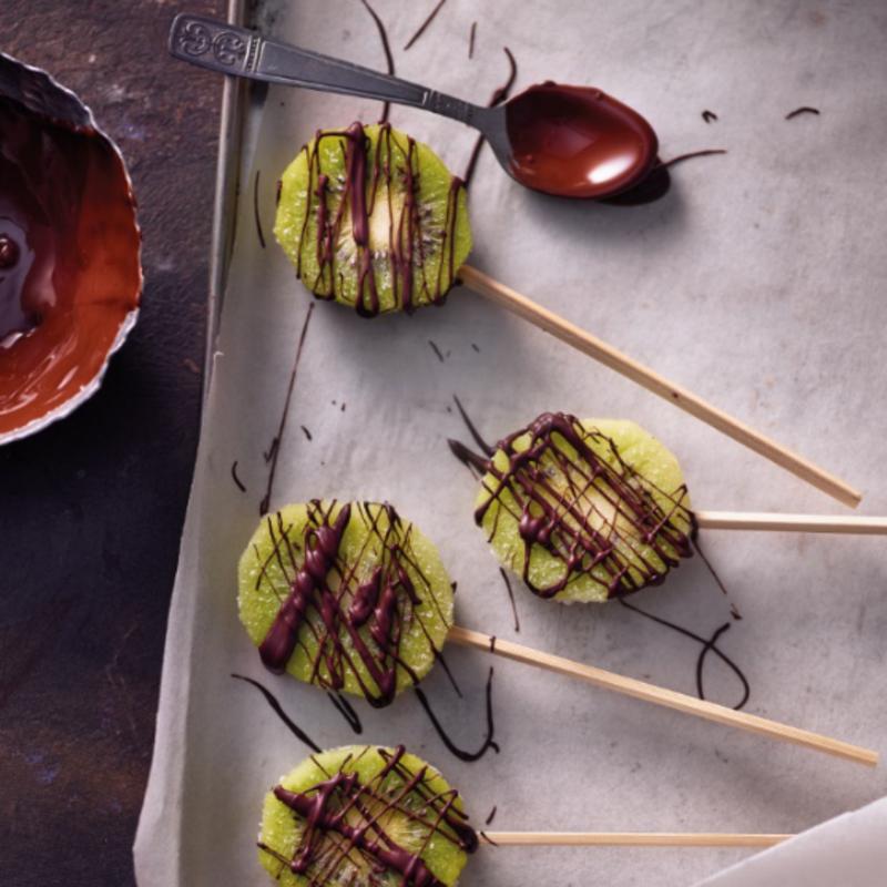Foto van Kiwi-ijsjes met chocolade door WW