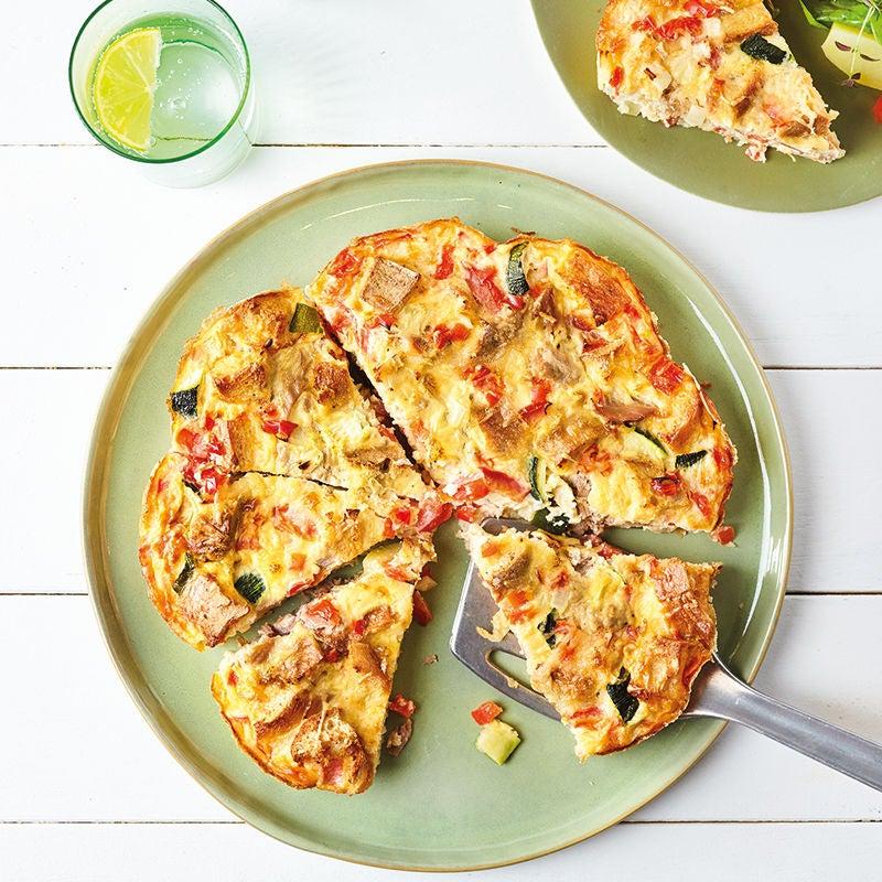 Foto van Gevulde omelet met tonijn, fijne groente en kaas door WW